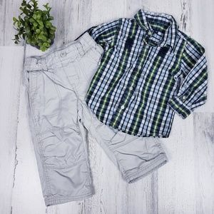 Baby Gap 18-24 Month Khaki and Dress Shirt Set